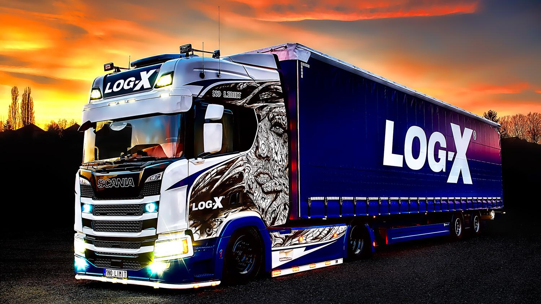 Noční fotka, truck Scania 1NO LIMIT s návěsem Berger Ecotrail společnosti LOG-X od Jan Stojan Photography ©