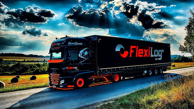Kamion DAF Black Diamond s návěsem společnosti FlexiLOG od Jan Stojan Photography ©