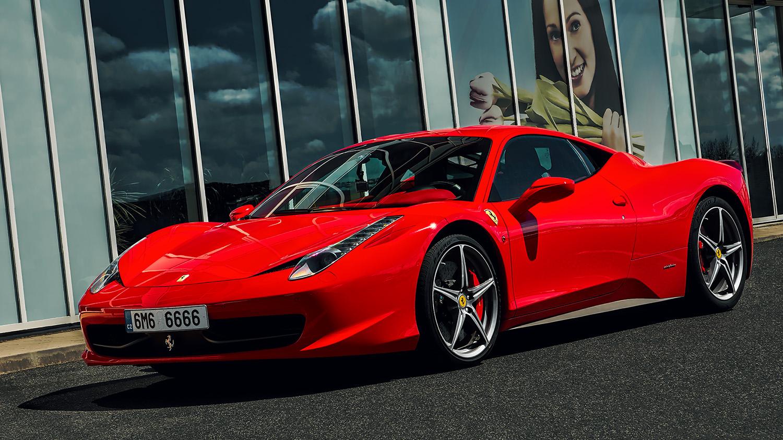Sportovní automobil, červené Ferrari 458 Italia od Jan Stojan Photography ©