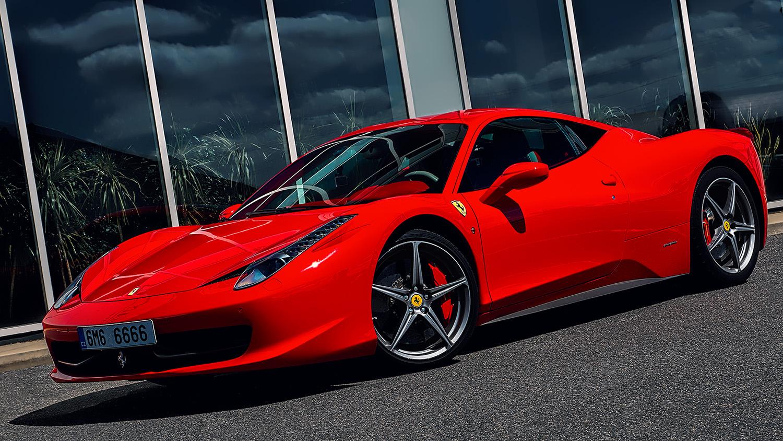 Supersport, červené Ferrari 458 Italia od Jan Stojan Photography ©