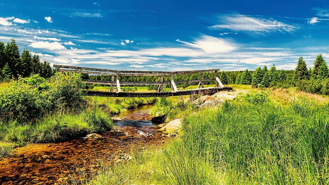 most přes flájský potok