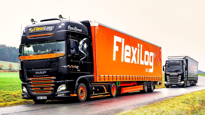 Trucky FlexiLog v krajině