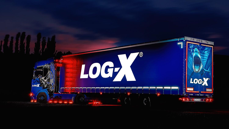 Noční fotka soupravy Scania IAM BEST1 s návěsem Berger Ecotrail společnosti LOG-X od Jan Stojan Photography ©