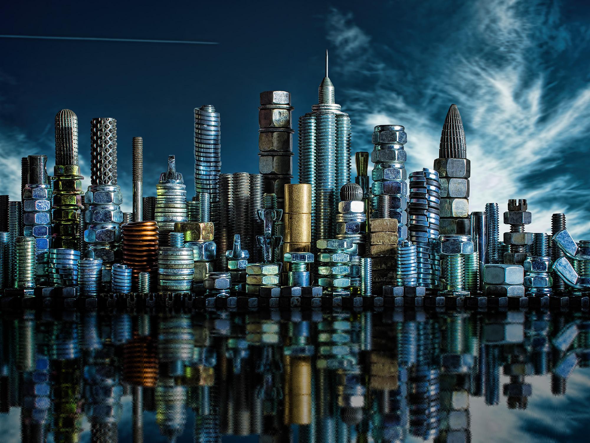 Ocelové město steel city fotomontáž od Jan Stojan Photography ©