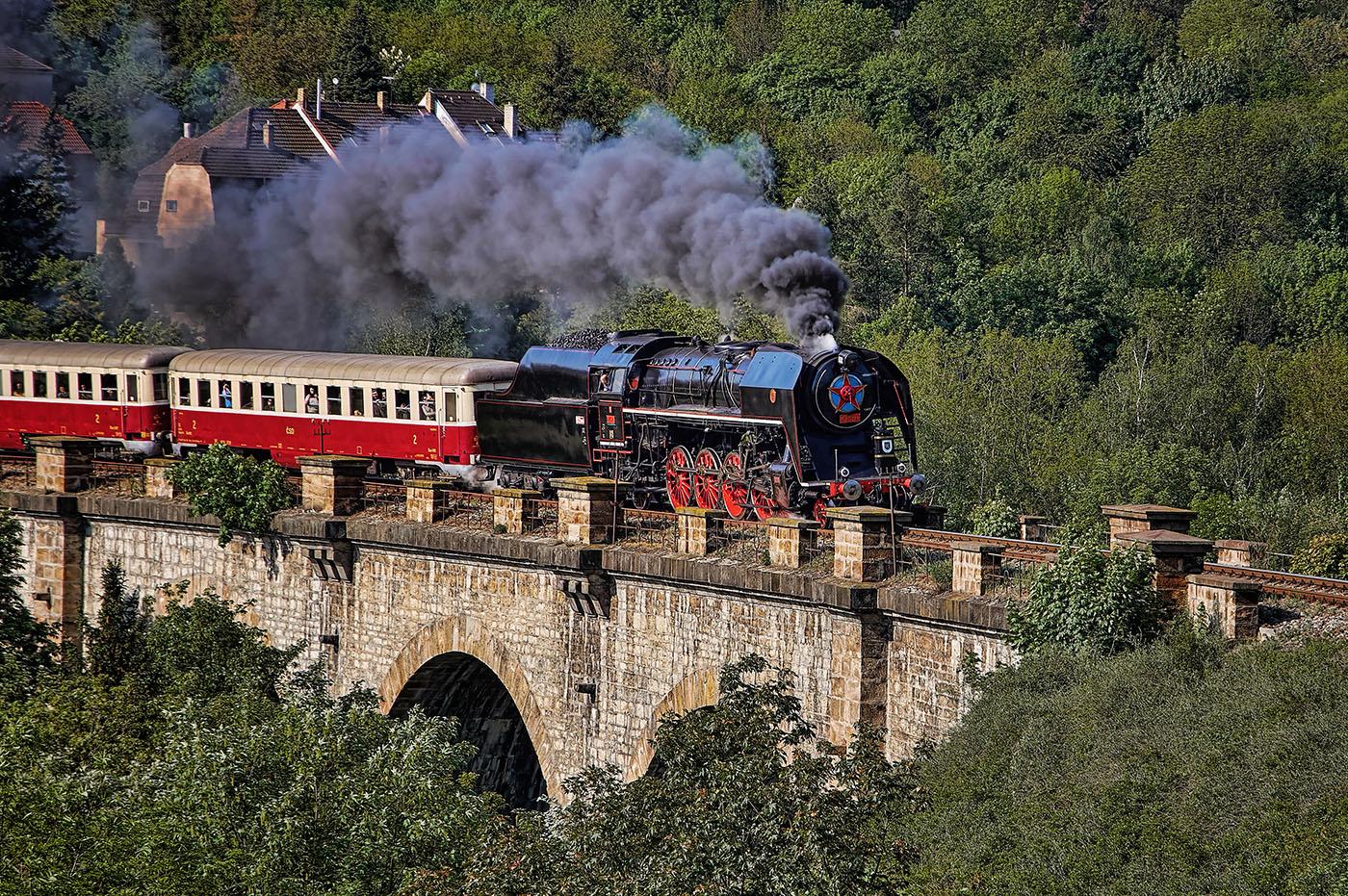 parní lokomotiva šlechtična na pražském semeringu od Jan Stojan Photography ©