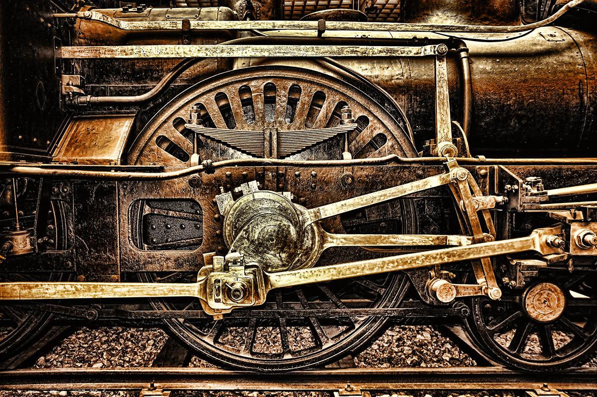 Parní lokomotivy detail hnacího kola od Jan Stojan Photography ©
