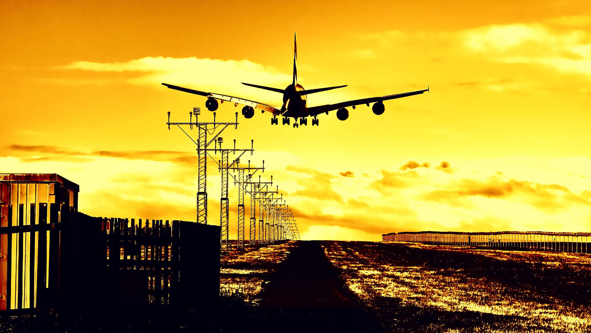 přistání letadla v Praze letiště Václava havla od Jan Stojan Photography ©