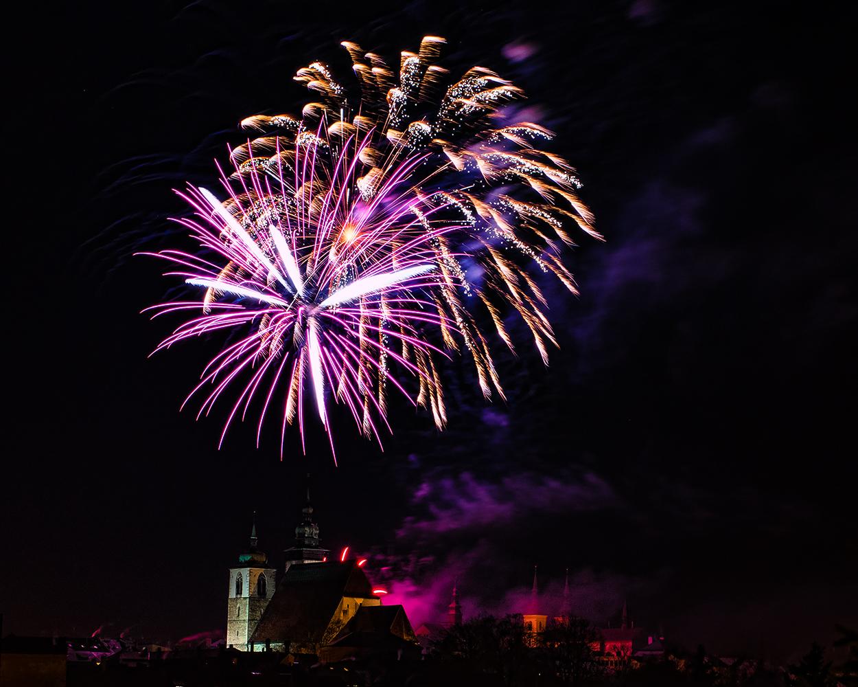 novoroční ohňostroj v Jihlavě od Jan Stojan Photography ©