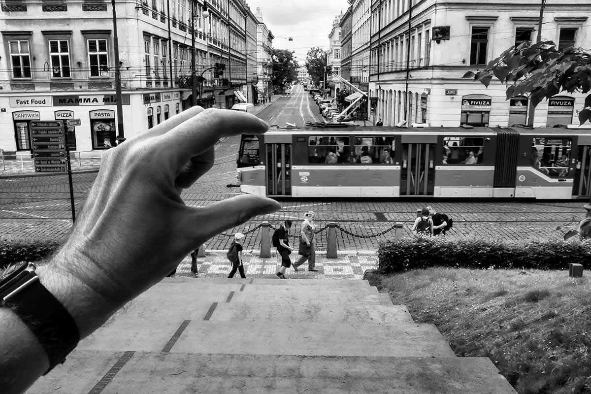 street foto tram in hand by Jan Stojan Photography ©