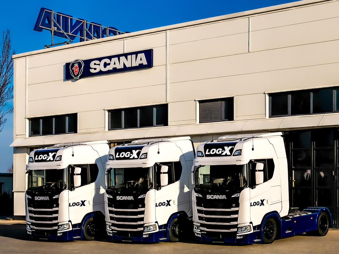 3x scania 450s