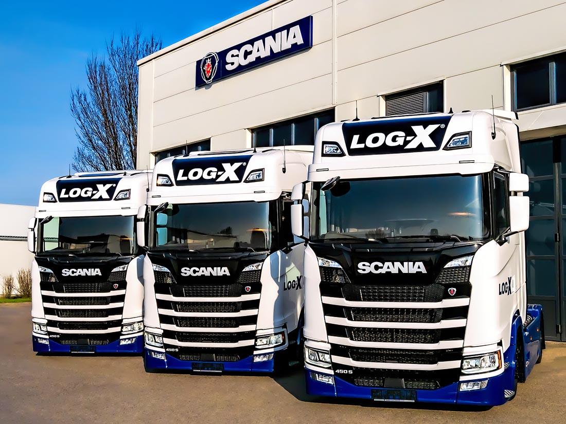 3x scania 450s pro LOG-X