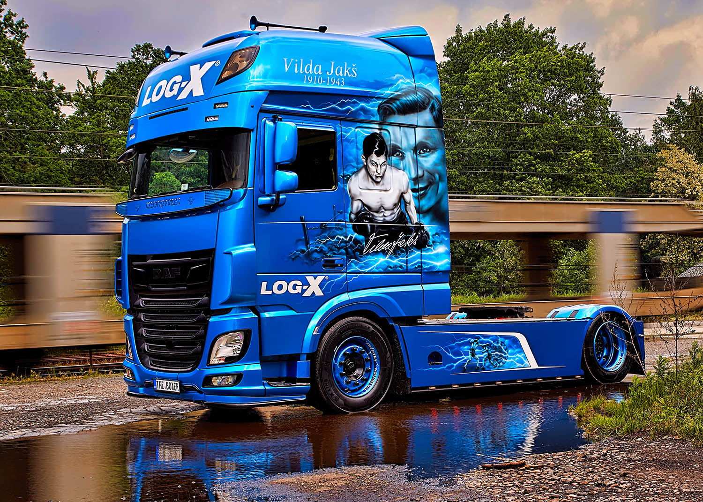 Kamion DAF, THE BOXER, Vilda Jakš, společnosti LOg-X od Jan Stojan Photography ©