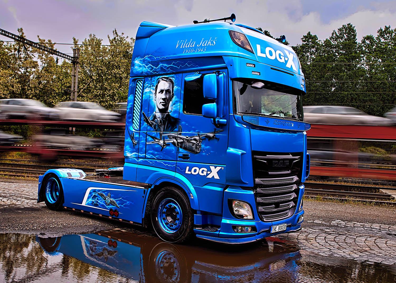 Tahač Truck DAF, THE BOXER, Vilda Jakš, společnosti LOG-X od Jan Stojan Photography ©