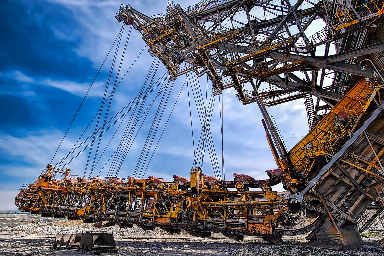 Velkostroj korečkové rýpadlo RK 500 severní energetická sev-en uhelné safari Most důl těžba uhlí od Jan Stojan Photography ©