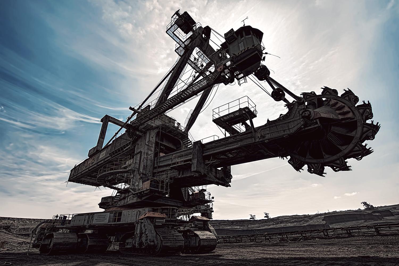 Velkostroj kolesové rýpadlo KU 300 severní energetická sev-en uhelné safari Most důl těžba uhlí od Jan Stojan Photography ©