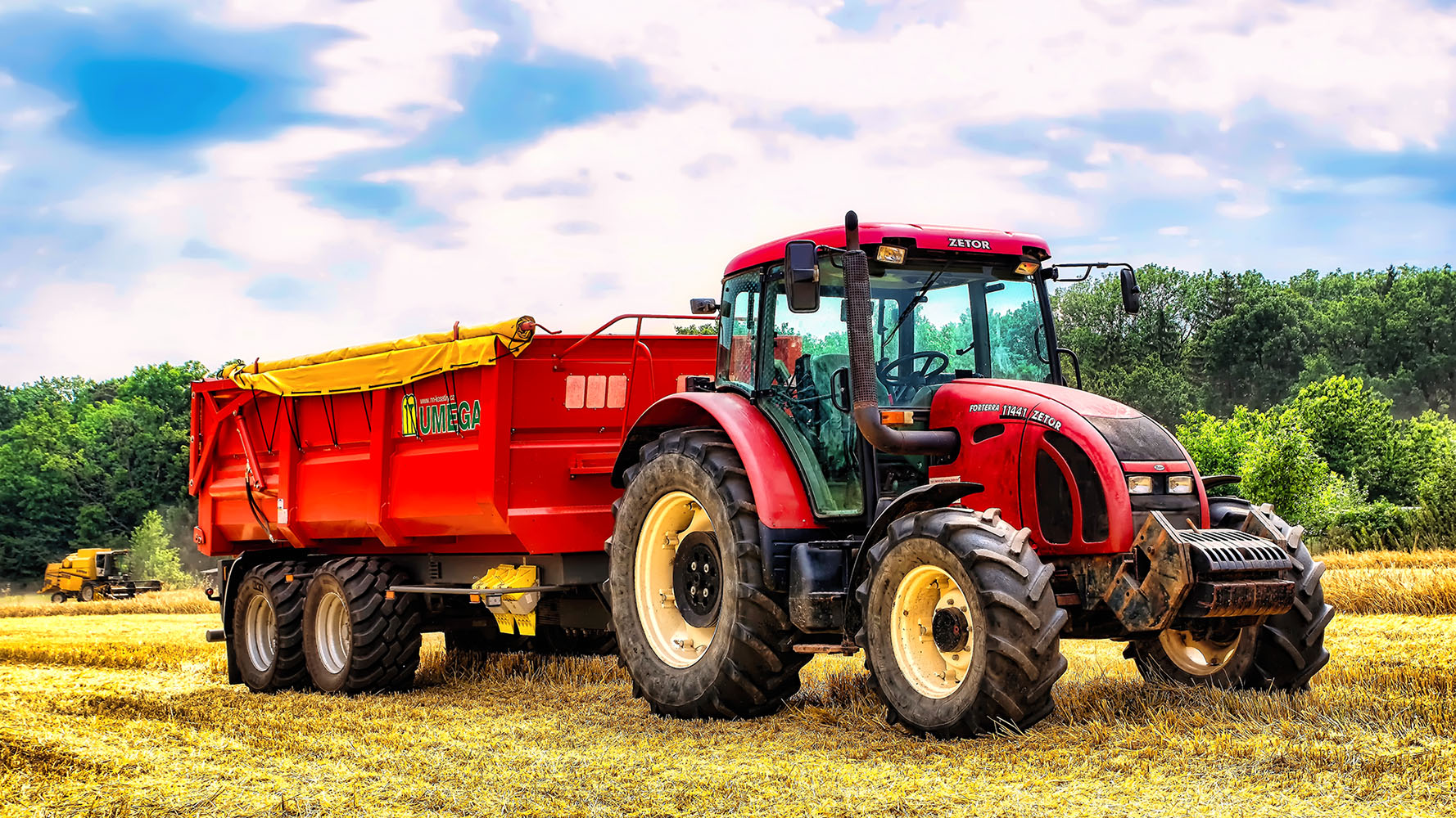 Fotka traktoru Zetor 11441 Fronterra přívěs Umega Jan Stojan Photography ©